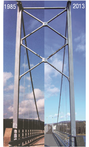 Kalvoya bridge in Oslo was treated with ZINGA film galvanizing system almost 30 years ago.
